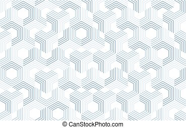 Seamless geometric pattern with hexagons and lines. Irregular structure for fabric print. Monochrome abstract background.