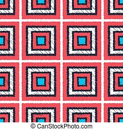 seamless geometric square tiles