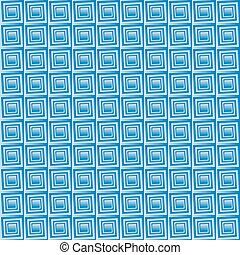 Seamless geometric texture. Vector art. Square spiral....