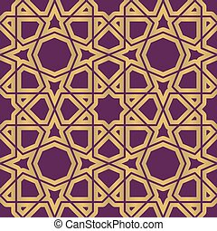 Seamless geometric tiling pattern