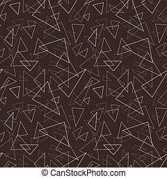 Seamless geometric triangle pattern.