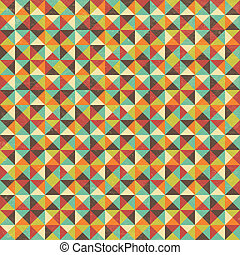 Seamless Geometric Triangle Square Background - Vector...