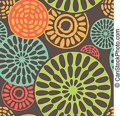 Seamless geometric, tribal vintage patterns