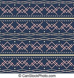 Seamless geometric vector pattern. Dark blue, yellow, pink colors