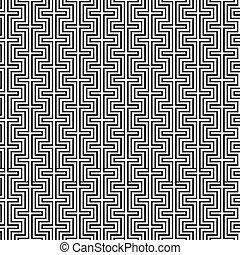 Seamless geometric vintage pattern background