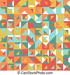 Seamless geometric, vintage pattern. With triangles. -...