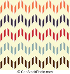 Seamless geometric wavy pattern. Popular vintage zigzag ...