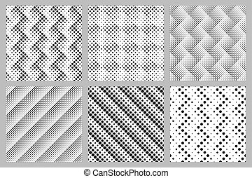 Seamless geometrical abstract dot pattern background design set