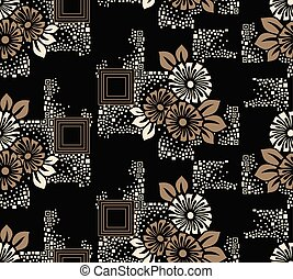 Seamless geometrical floral pattern