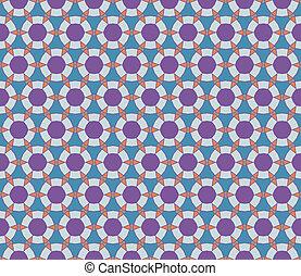 Seamless geometrical pattern with circles and diamonds