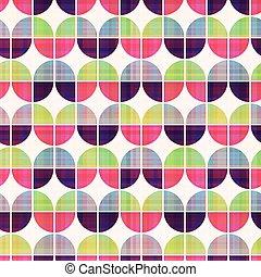 seamless, geometrico, modello circolare