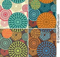 seamless, geometrico, tribale, vendemmia, modelli