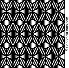seamless, geometrisch, pattern.
