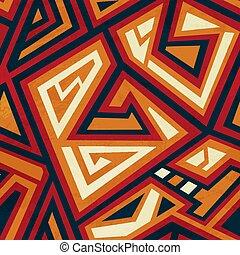 seamless, geometrisch, pattern., van een stam