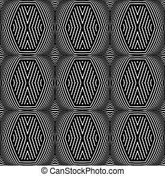 seamless, geometrisch, texture., op, kunst, pattern.
