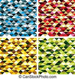 seamless, geometrische knippatroonen, met, kleurrijke,...