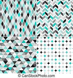 seamless, geometrisk mønster