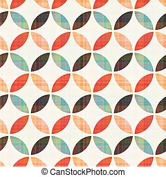 seamless, geometriske, cirkelrund mønster