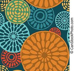 seamless, geometriske, stamme, vinhøst, mønstre