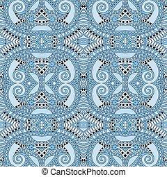 seamless geometry vintage pattern, blue colour ornamental...