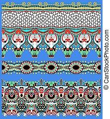 seamless geometry vintage pattern, ethnic style ornamental ...