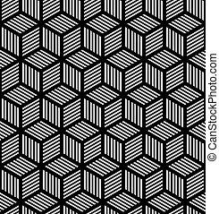 seamless, geometryczny, op, sztuka, struktura