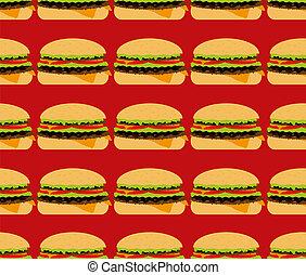 seamless, gewebe, hamburger