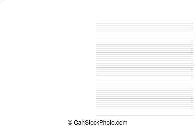 Papier, seamless, hintergrund, liniert. Pattern., seamless ...