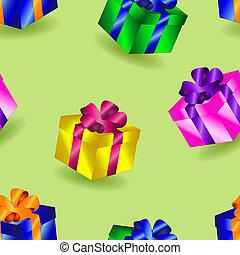 Seamless gifts pattern
