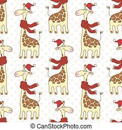 Seamless giraffes pattern - Seamless pattern with cute...