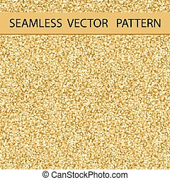 Seamless Glitter Pattern. Golden Gloss. Background, Texture. Vector