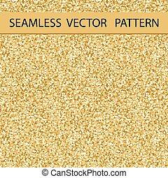 Seamless Glitter Pattern. Golden Gloss. Background, Texture. Vector.