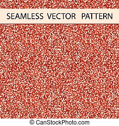 Seamless Glitter Pattern. Red Gloss. Background, Texture. Vector