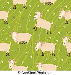 Seamless goats background