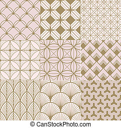seamless gold and pink pattern