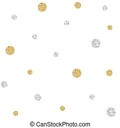 SEAMLESS GOLD AND SILVER DOT GLITTER PATTERN BACKGROUND