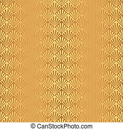 Seamless Gold Art Deco Pattern - Seamless Art Deco Pattern...
