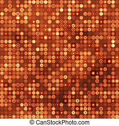 Seamless gold background with circles
