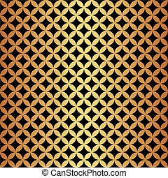 Seamless Gold & Black Circle Pattern