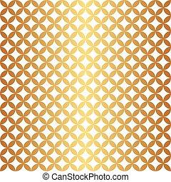 Seamless Gold Circle Pattern
