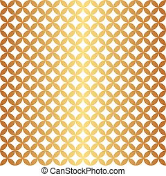 Seamless Gold Circle Pattern