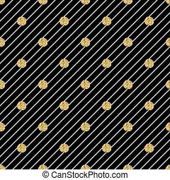 seamless gold dot glitter pattern on stripe background
