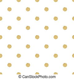 seamless gold dot glitter pattern with white background