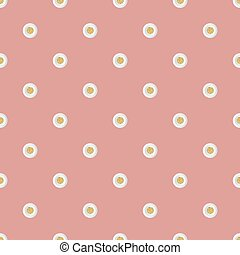 seamless gold dot glitter with white dot paper pattern on pink background