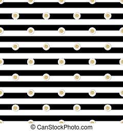 seamless gold dot glitter with white dot paper pattern on stripe background