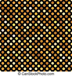 Seamless gold dot pattern background wallpaper.