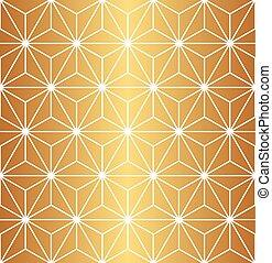 Seamless gold geometric pattern
