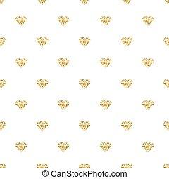 SEAMLESS GOLD GLITTER DAIMOND PATTERN ON WHITE BACKGROUND