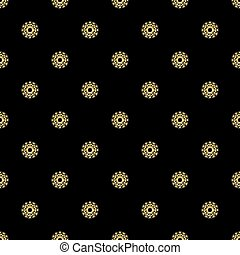 SEAMLESS GOLD GLITTER SNOWFLAKE PATTERN ON BLACK BACKGROUND
