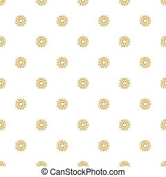 SEAMLESS GOLD GLITTER SNOWFLAKE PATTERN ON WHITE BACKGROUND